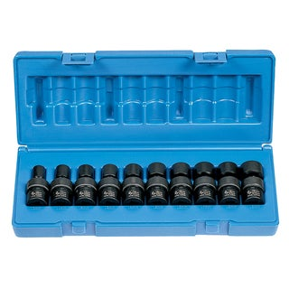 10-piece 3/8-inch 6-point Standard Length Metric Universal Socket Set