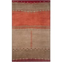 Rizzy Home Mojave Collection Hand-tufted Wool Beige Area Rug - 5' x 8'