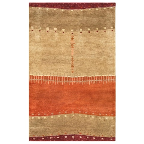 Rizzy Home Mojave Collection Orange Stripe Rug
