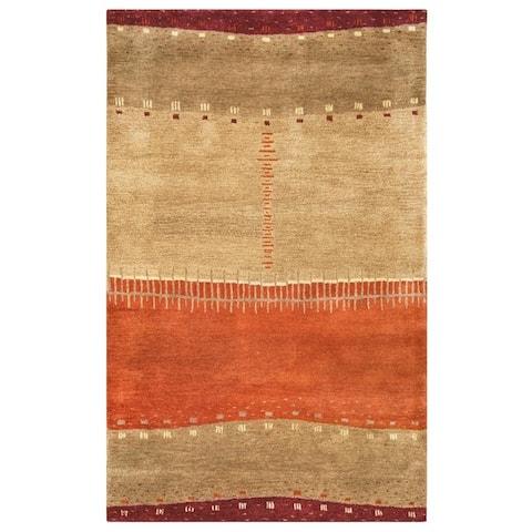 Rizzy Home Mojave Collection Orange Stripe Rug