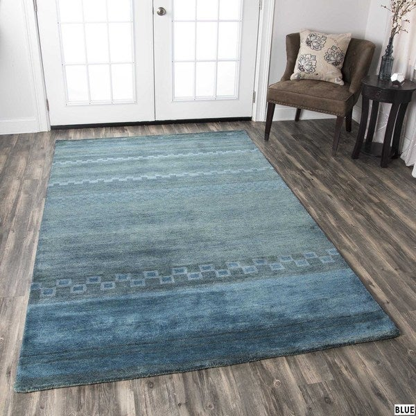Rizzy Home Mojave Collection Hand-tufted Wool Rug - 8' x 10'