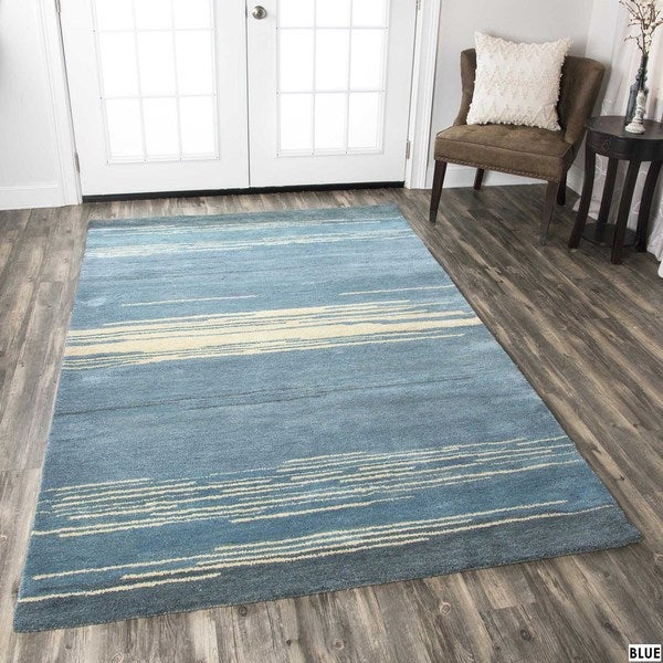 Rizzy Home Mojave Collection Hand-tufted Wool Area Rug - 8' x 10'