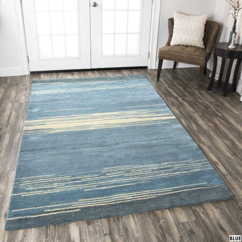 Rizzy Home Mojave Collection Stripe Rug