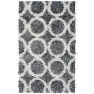 Rizzy Home Kempton Collection Hand-tufted Polyester Gray Rug (8' x 10')