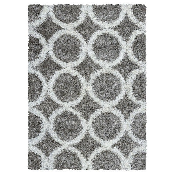 Rizzy Home Kempton Collection Hand-tufted Polyester Gray Rug - 8' x 10'