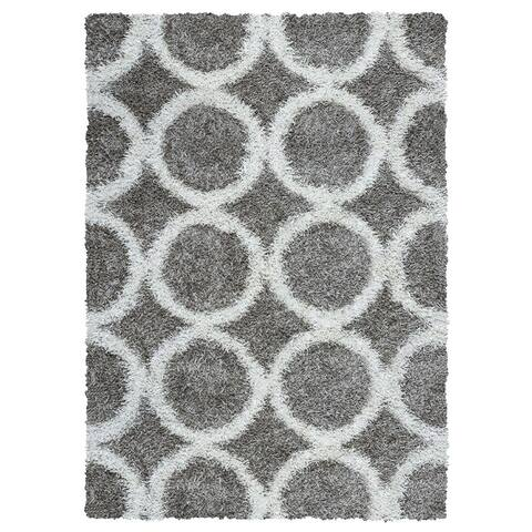 Rizzy Home Kempton Collection Hand-tufted Polyester Gray Rug (6' x 9') - 6' x 9'