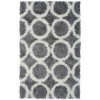 """Rizzy Home Kempton Collection Hand-tufted Polyester Gray Rug - 3'6"""" x 5'6"""""""