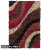 Rizzy Home Kempton Swirls Collection Hand-tufted Polyester Rug - 8' x 10'