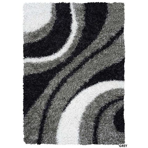 Rizzy Home Kempton Swirls Collection Hand-tufted Polyester Rug (6' x 9')