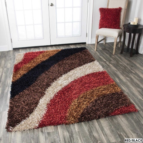 Rizzy Home Kempton Swirls Collection Hand-tufted Polyester Rug (5' x 7')