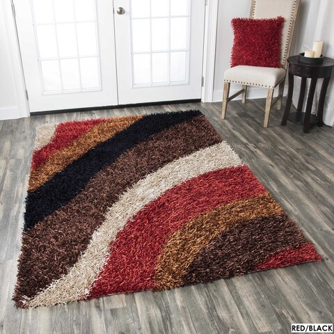 Rizzy Home Kempton Swirls Collection Hand-tufted Polyester Rug (3' 6 x 5' 6)