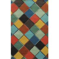 Rizzy Home Gillespie Avenue Hand-tufted Multi-Colored Wool and Viscose Accent Rug (9' x 12')