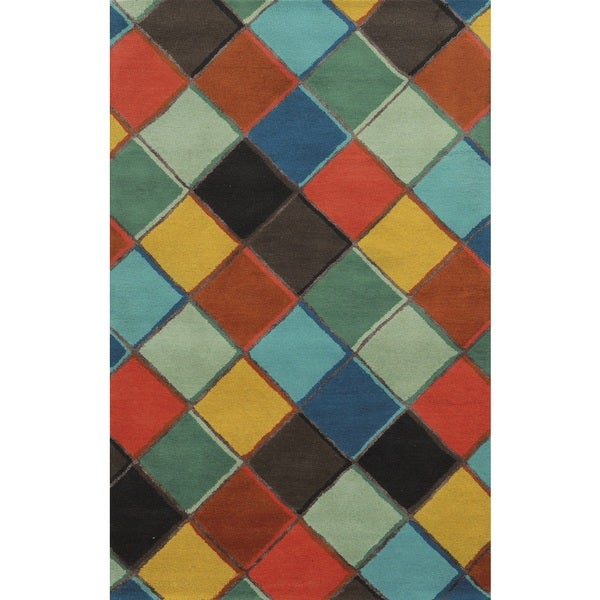 Rizzy Home Gillespie Avenue Hand-tufted Multi-Colored Wool and Viscose Accent Rug (8' x 10') - 8' x 10'