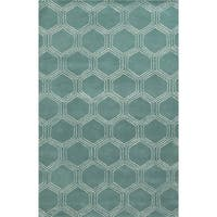 Rizzy Home Gillespie Avenue Hand-tufted Wool and Viscose Accent Rug - 8' x 10'
