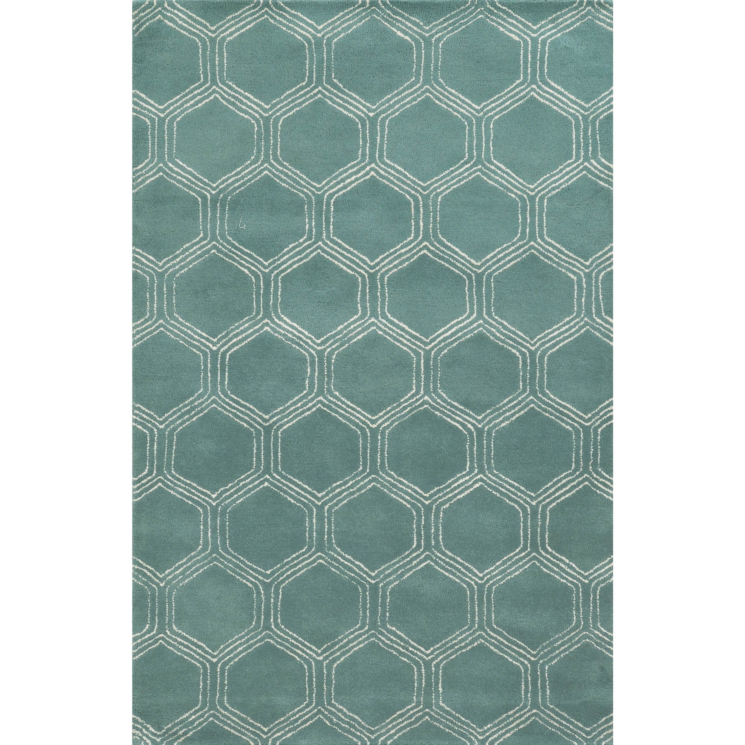 Rizzy Home Gillespie Avenue Hand Tufted Wool And Viscose Accent Rug 8 X 10 Overstock 10187418