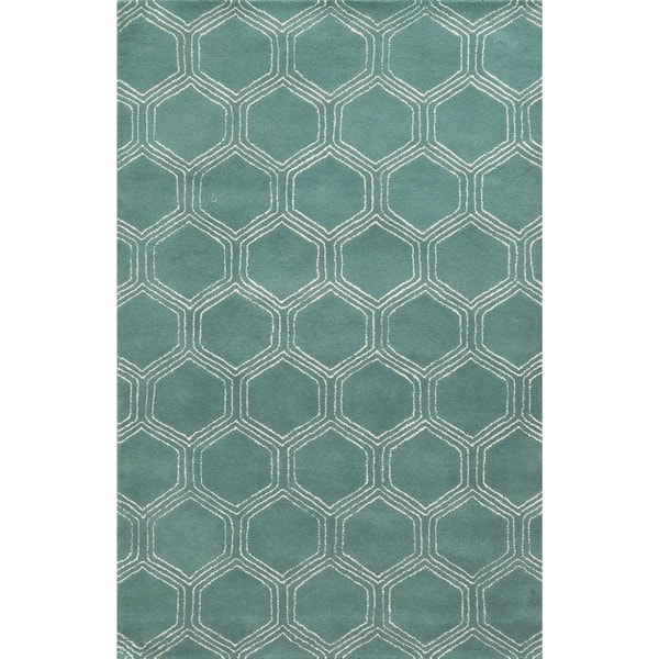 Rizzy Home Gillespie Avenue Hand-tufted Wool and Viscose Accent Rug (5' x 8')