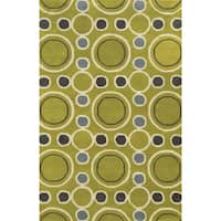 Rizzy Home Hand-tufted Gillespie Avenue Wool and Viscose Accent Rug - 9' x 12'