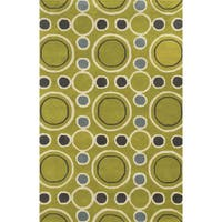 Rizzy Home Hand-tufted Gillespie Avenue Wool and Viscose Accent Rug - 8' x 10'