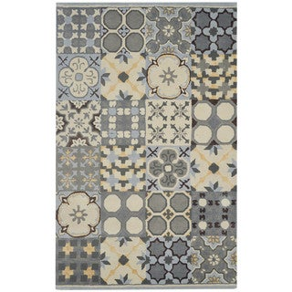 Rizzy Home Gillespie Avenue Hand-tufted New Zealand Wood Accent Rug (9' x 12')