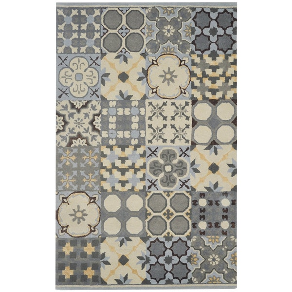 Rizzy Home Gillespie Avenue Hand-tufted New Zealand Wool Accent Rug - 8' x 10'