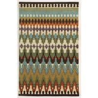 Rizzy Home Gillespie Avenue Hand-tufted New Zealand Wool Multi-Colored Accent Rug (9' x 12') - Multicolor - 9' x 12'