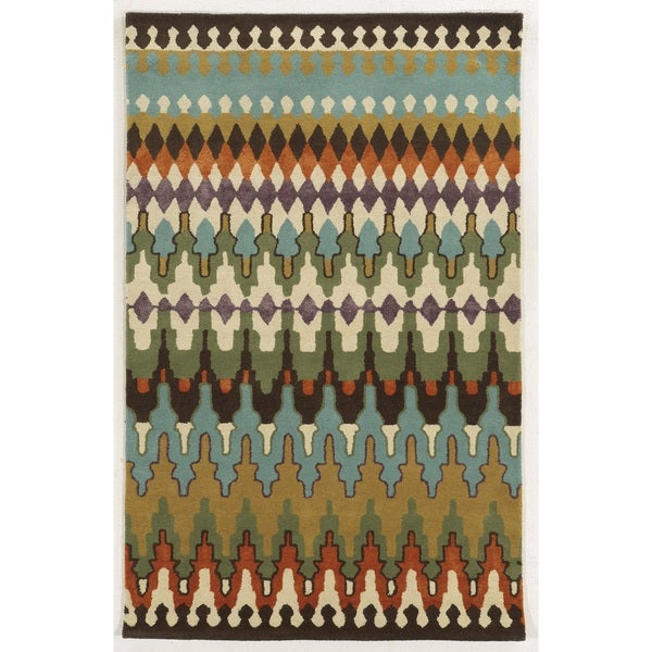 Rizzy Home Gillespie Avenue Hand-tufted New Zealand Wool Multi-Colored Accent Rug (8' x 10')