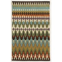 Rizzy Home Gillespie Avenue Hand-tufted New Zealand Wool Multi-Colored Accent Rug (5' x 8') - 5' x 8'