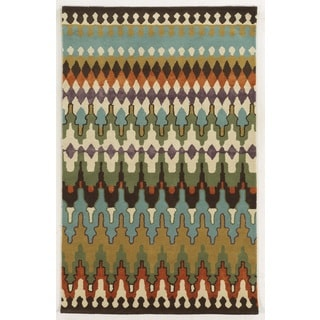 Rizzy Home Gillespie Avenue Hand-tufted New Zealand Wool Multi-Colored Accent Rug (3' x 5')