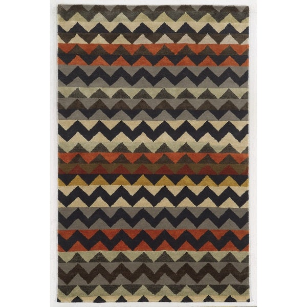 Rizzy Home Gillespie Avenue Hand-tufted New Zealand Wool Accent Rug (9' x 12')