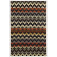 Rizzy Home Gillespie Avenue New Zealand Wool Hand-tufted Accent Rug - 8' x 10'