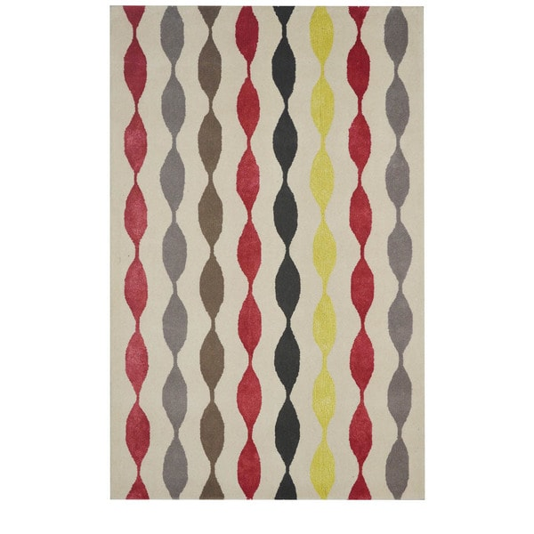 Rizzy Home Gillespie Avenue Hand-tufted New Zealand Wool Accent Rug (5' x 8')
