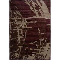 Rizzy Home Galleria Power-Loomed Machine-Made Polypropylene Contemporary Accent Rug (5' 3' x 7' 7')