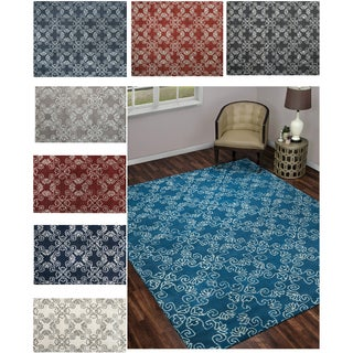 Rizzy Home Wool and Viscose Hand-tufted Rug (8' x 10')