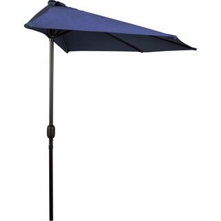Navy Blue 9 Footu0027 Patio Half Umbrella