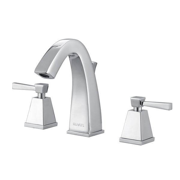 Shop ruvati rvf5120bn giza 8 15 inch brushed nickel widespread two handle contemporary bathroom for 4 inch widespread bathroom faucets