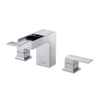 Ruvati RVF5125BN Brushed Nickel Waterfall 8-15-inch Widespread Bathroom Faucet