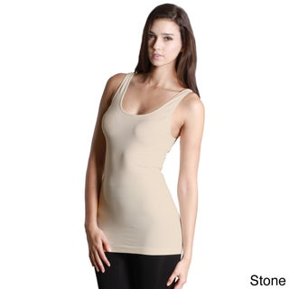 Nikibiki Women's Nylon/Spandex Seamless Basic Solid Jersey Tank Top (More options available)