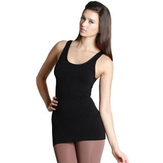 Nikibiki Women's Nylon/Spandex Seamless Basic Solid Jersey Tank Top