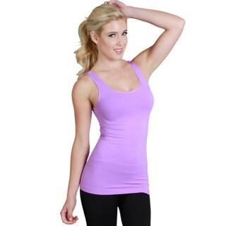 Nikibiki Women's Seamless Solid Red/ Purple Jersey Tank Top