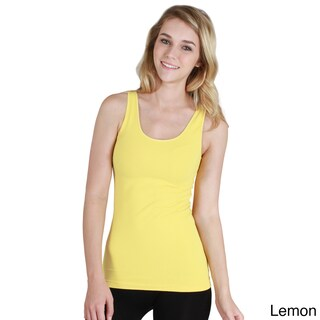 Nikibiki Women's Seamless Assorted Pink or Yellow Jersey Tank Top