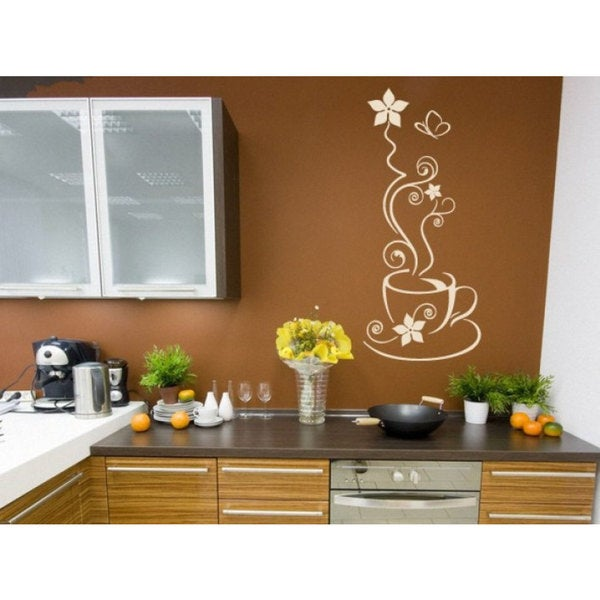 Cup Of Coffee Kitchen Vinyl Sticker Wall Art