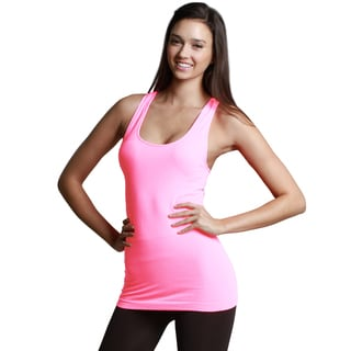 Nikibiki Women's Seamless Assorted Solid Neons Jersey Tank Top