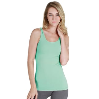 Nikibiki Women's Seamless Assorted Solid Green Jersey Tank Top