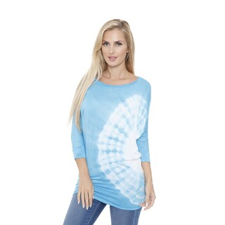 White Mark Women's Tie Dye Dolman Top/Tunic (More options available)