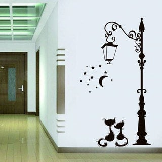 Cats Romantic Vinyl Sticker Wall Art