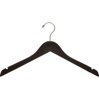 Espresso Finish Top Hanger with Brushed Chrome Hook (Box of 25)