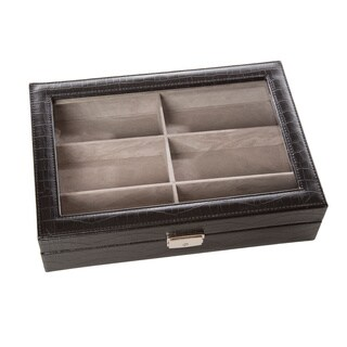 Safe Specs Embossed Leather Sunglasses Box