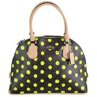 Coach Dot Cora PVC Dome Satchel