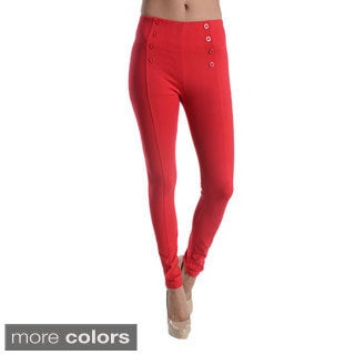 Ci Sono By Cavalini Double Row Button Design Leggings
