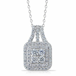 Icz Stones Sterling Silver Cubic Zirconia Necklace White